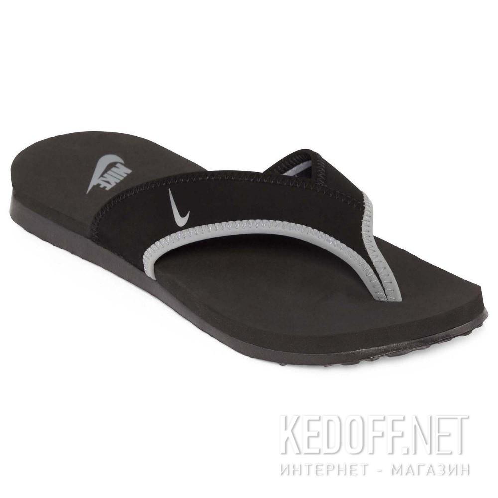 Купить Сланцы и шлепанцы Nike 307812-018 унисекс   (чёрный/серый)