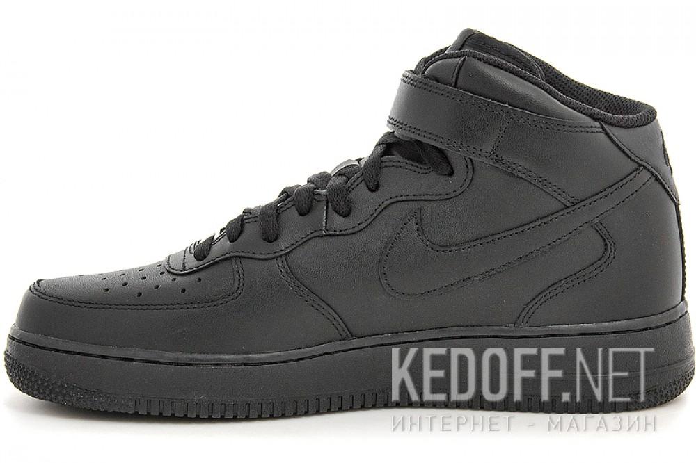 Мужские кроссовки Nike Air Force 1 Mid 07 315123-001   (чёрный) купить Киев