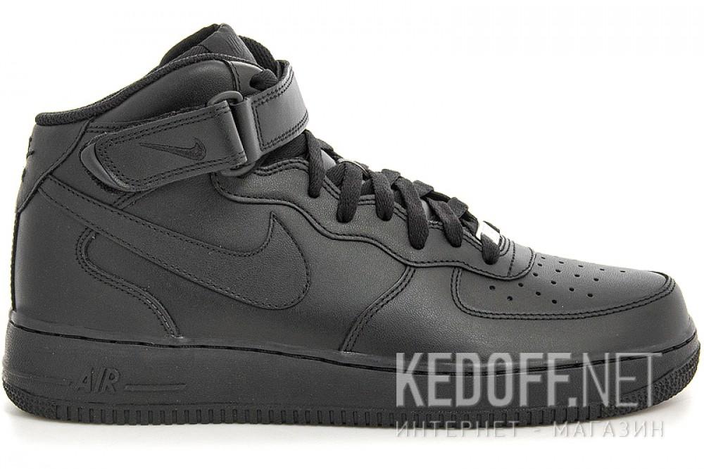 Оригинальные Мужские кроссовки Nike Air Force 1 Mid 07 315123-001   (чёрный)