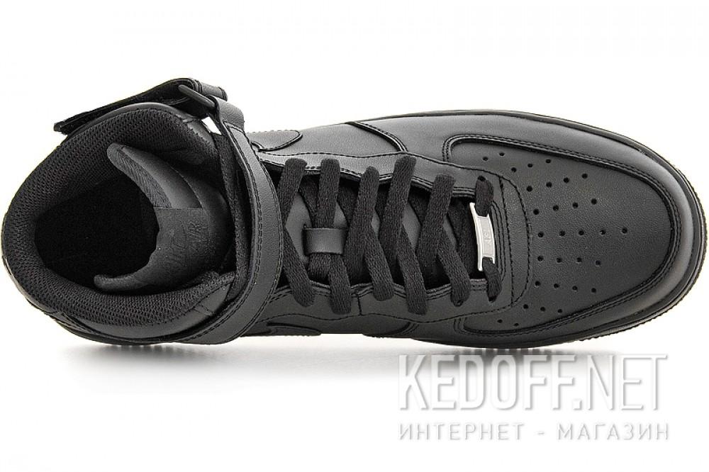 Мужские кроссовки Nike Air Force 1 Mid 07 315123-001   (чёрный) все размеры