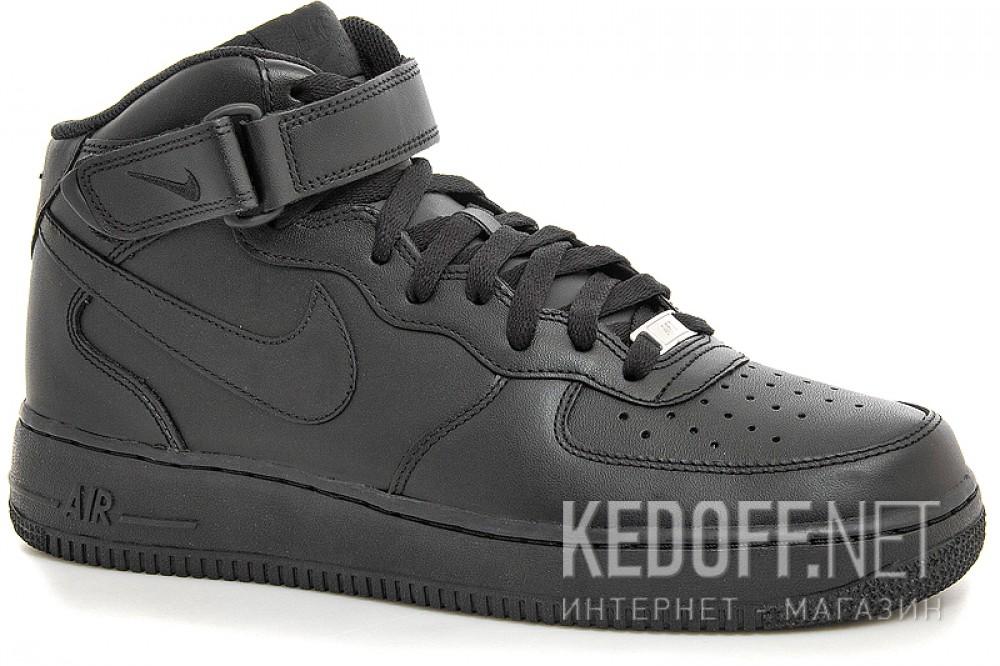 Купить Мужские кроссовки Nike Air Force 1 Mid 07 315123-001   (чёрный)
