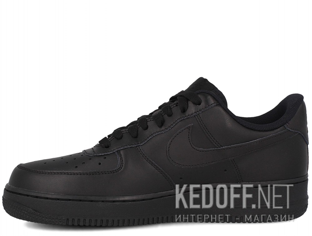 Мужские кроссовки Nike Air Force 1 '07 315122-001   (чёрный) купить Киев