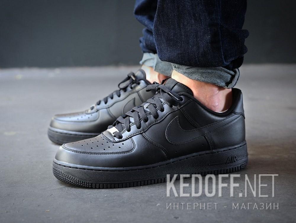 Мужские кроссовки Nike Air Force 1 '07 315122-001   (чёрный) все размеры