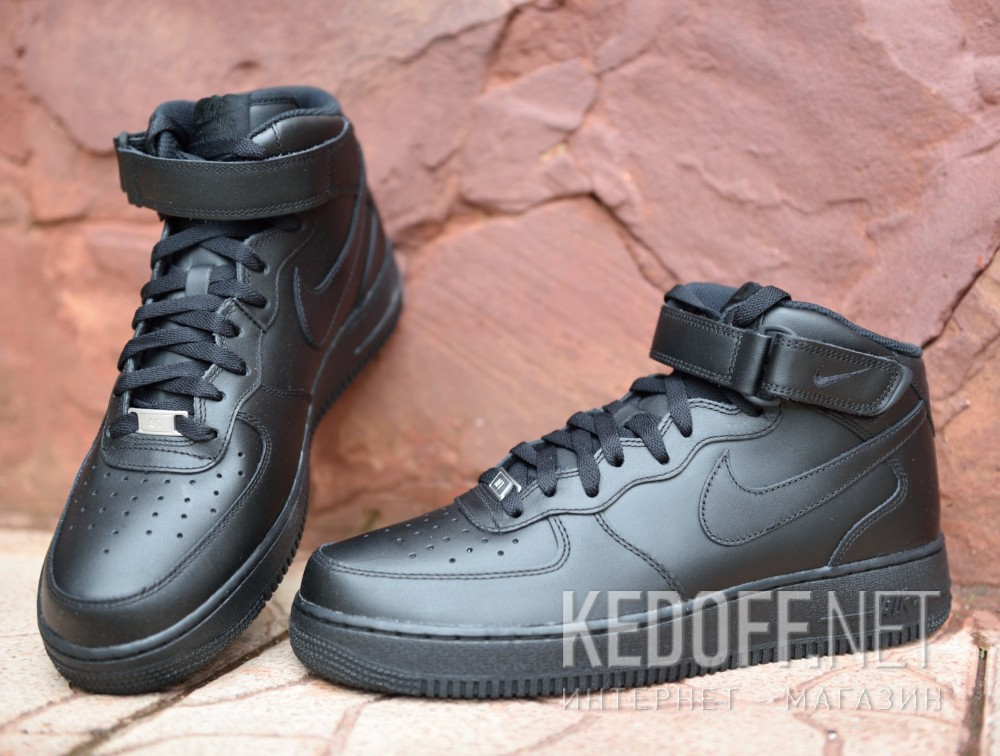 Мужские кроссовки Nike Air Force 1 Mid 07 315123-001 (чёрный) доставка по c6b350d9aafa9