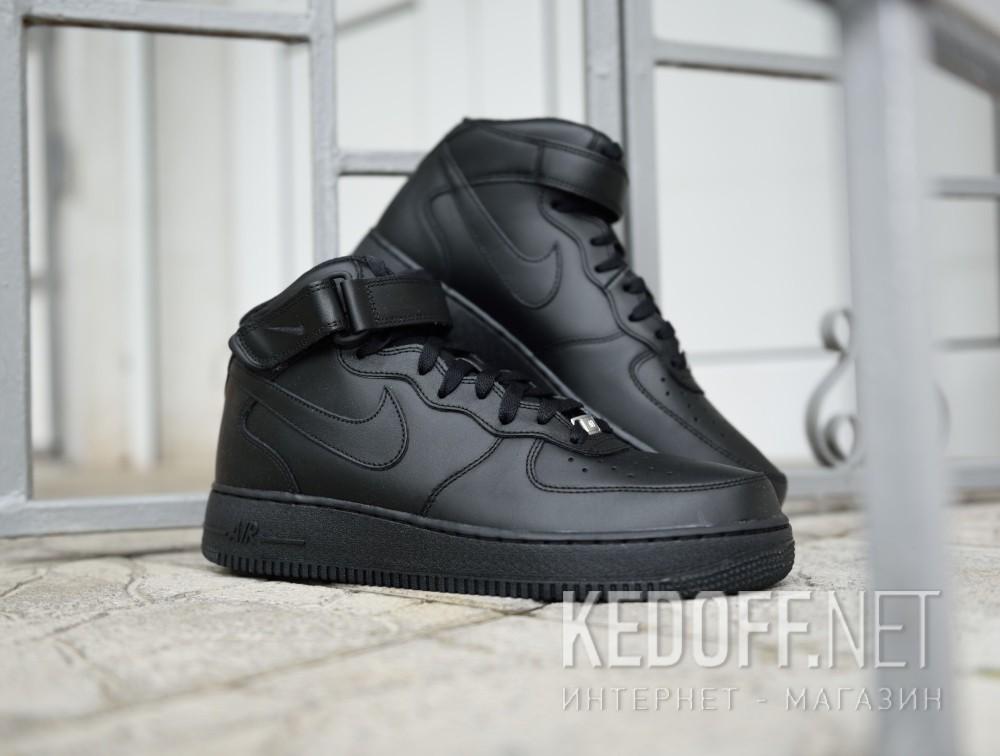 Доставка Мужские кроссовки Nike Air Force 1 Mid 07 315123-001   (чёрный)