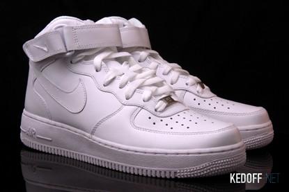 Мужские кроссовки NIKE AIR FORCE 1 MID 07 315123-111   (белый) все размеры