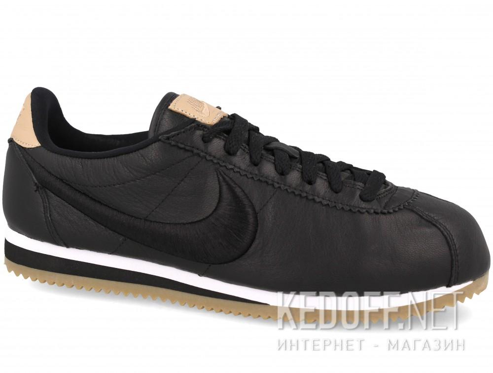 Мужские комфорт Nike Classic Cortez Premium Leather 861677-004   (чёрный) купить Киев