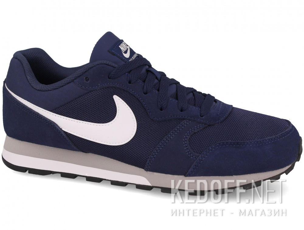 Купить Мужские кроссовки Nike Md Runner Suede 749794-410   (тёмно-синий)