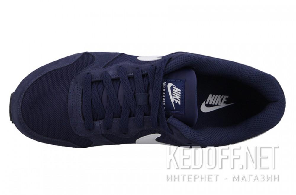 Мужские кроссовки Nike Md Runner Suede 749794-410   (тёмно-синий) описание
