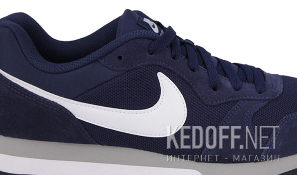 Цены на Мужские кроссовки Nike Md Runner Suede 749794-410   (тёмно-синий)
