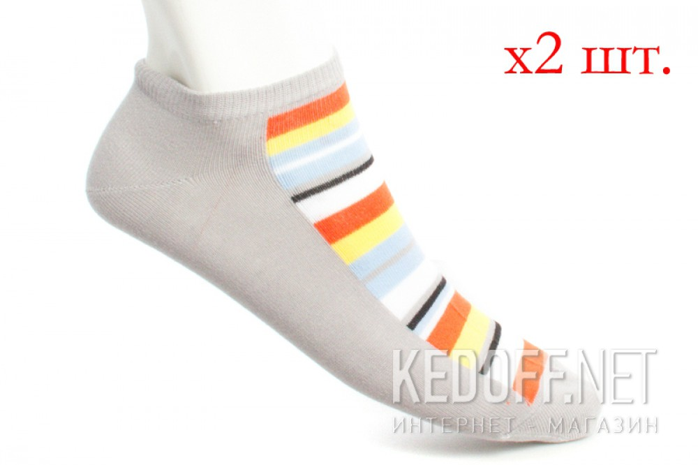 Носки Mexx 006324-0515 унисекс   (голубой/оранжевый/жёлтый/серый)