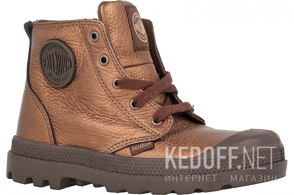 Купить Детские ботинки Palladium 53481-227   (бронзовый)