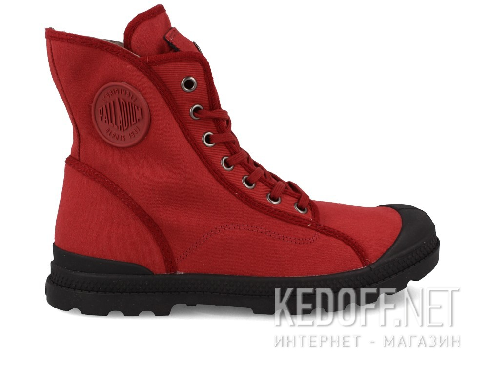 Текстильная обувь Palladium 95347-648 унисекс   (бордовый) купить Киев