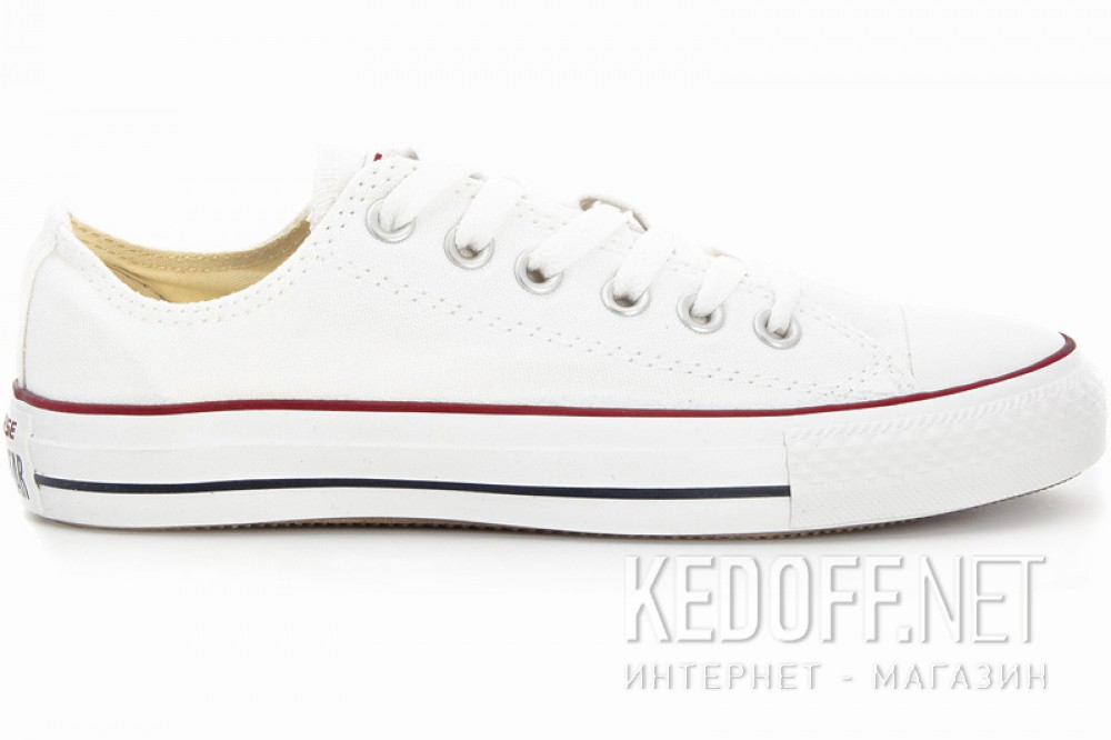 Кеды Converse Chuck Taylor All Star Classic Low Optical White M7652C унисекс   (белый) описание