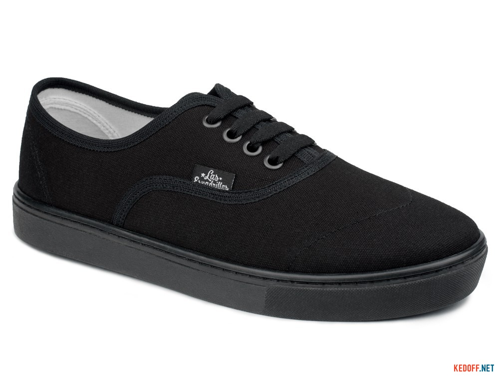 Canvas shoes Las Espadrillas V8214-27-9166 Black Canvas