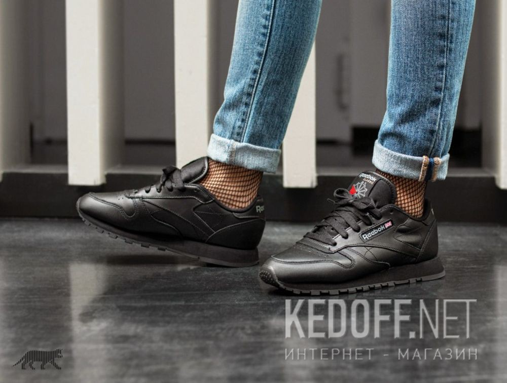 Sneakers Reebok Classic Leather Int-black 3912 доставка по Украине