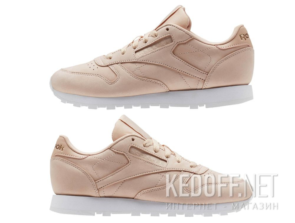 Кроссовки Reebok Classic Leather Nude Nbk \ Rose Cloud/White CN1504 все размеры