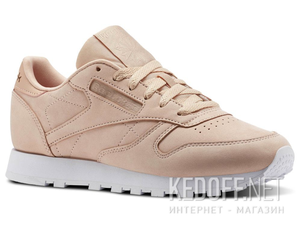Купить Кроссовки Reebok Classic Leather Nude Nbk \ Rose Cloud/White CN1504