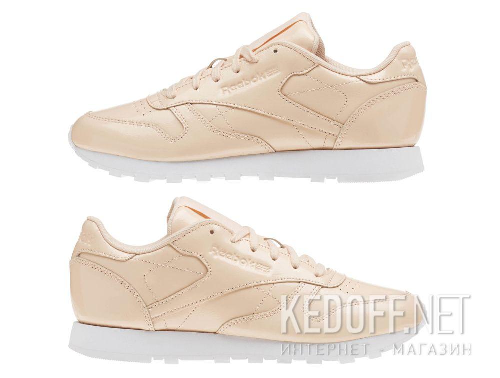 Кроссовки Reebok Classic Leather Patent Desert Dust/White cn0771 все размеры