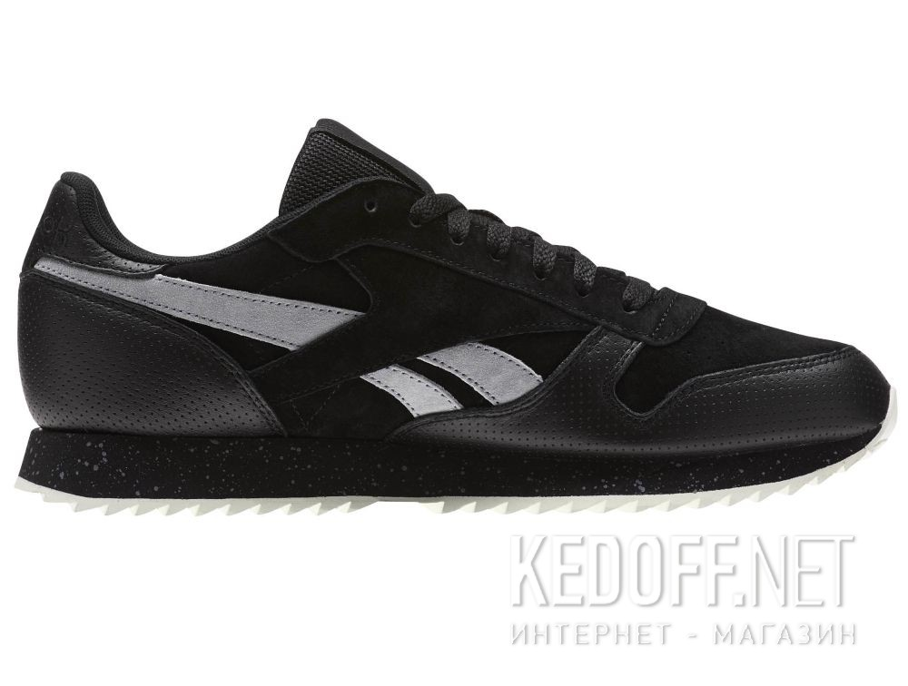 Кроссовки Reebok Classic Leather Ripple Sm \ Black/Cool Shadow/Chalk BS9726 купить Украина