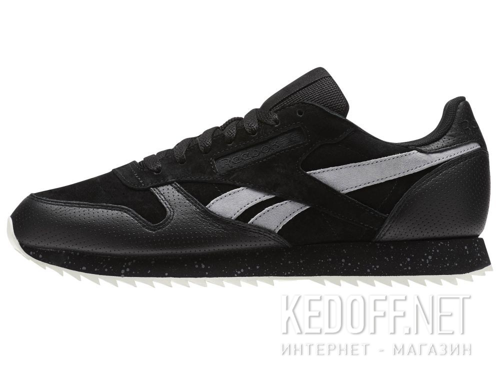 Кроссовки Reebok Classic Leather Ripple Sm \ Black/Cool Shadow/Chalk BS9726 купить Киев