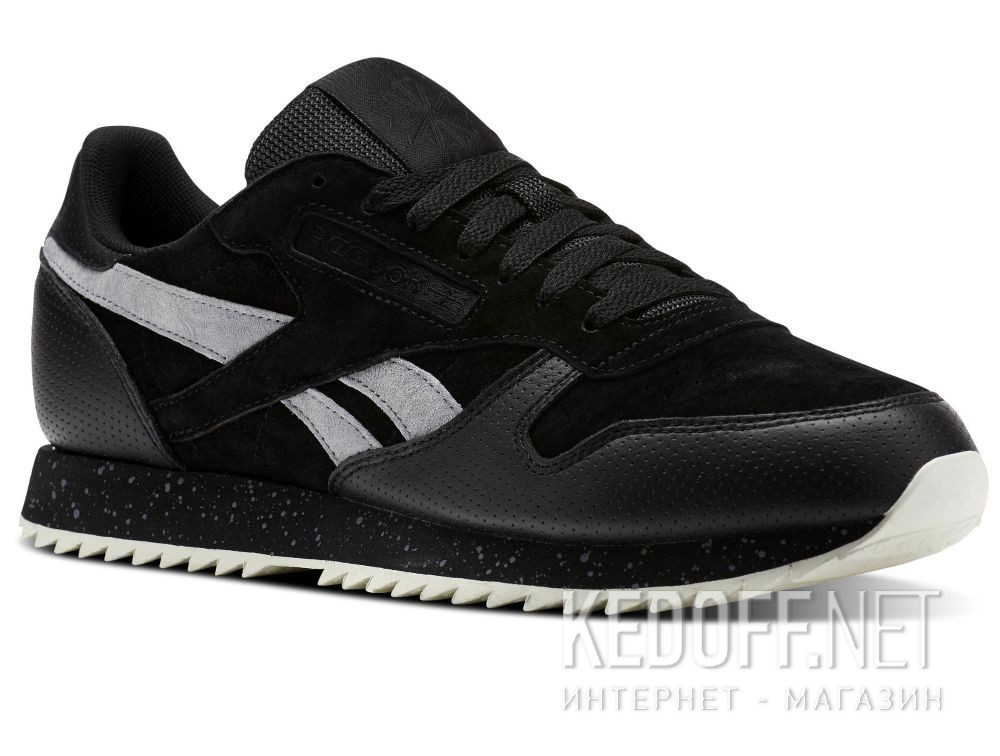 Купить Кроссовки Reebok Classic Leather Ripple Sm \ Black/Cool Shadow/Chalk BS9726