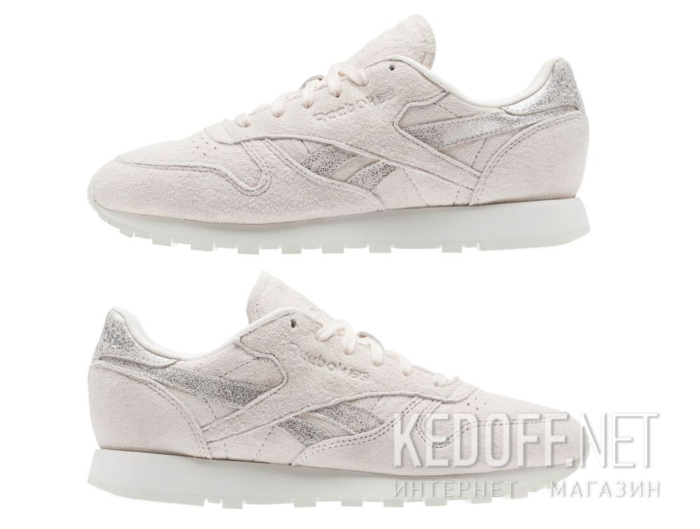 184faf47f756c Кросівки Reebok Classic Leather Shimmer Pale Pink Matte Silver Chalk bs9865  все размеры