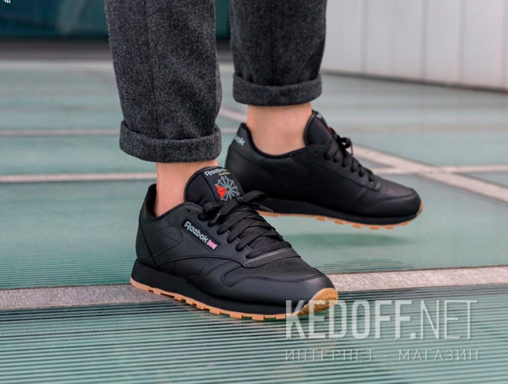 Кроссовки Reebok Classic Leather Black/Gum 49800   (чёрный) доставка по Украине