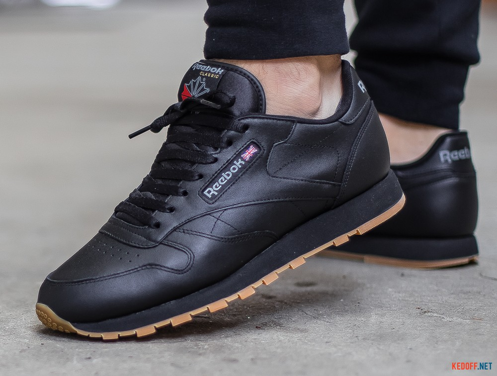 Доставка Кроссовки Reebok Classic Leather Black/Gum 49800   (чёрный)