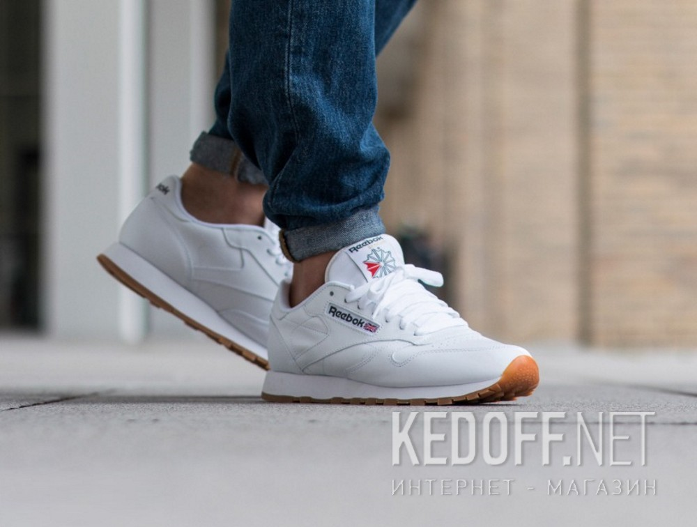 c65852eca7a Shop Reebok Classic Leather White Gum 49799 at Kedoff.net - 21260