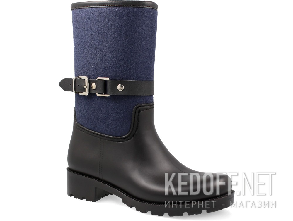 Купити Гумові чоботи Forester Rain 321-27 (чорний/синій)