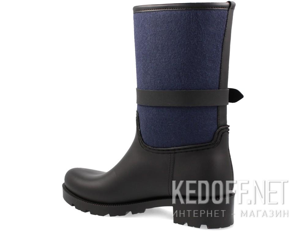 Гумові чоботи Forester Rain 321-27 (чорний/синій) купити Україна