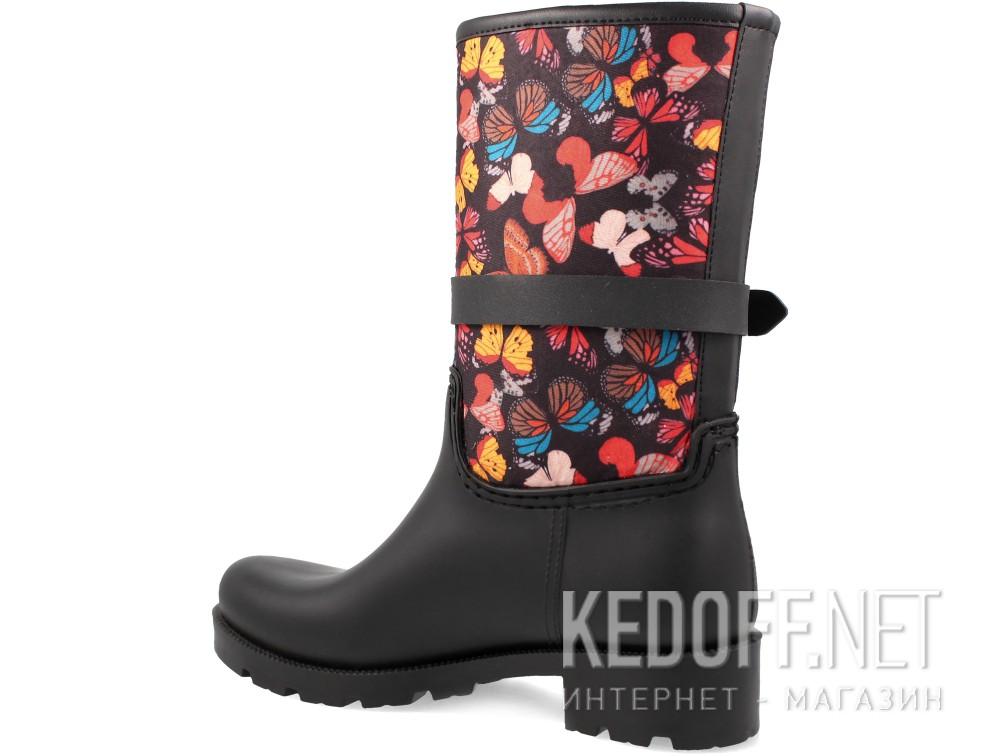 Женские резиновые сапоги Forester Rain 324-27   (чёрный) купить Украина