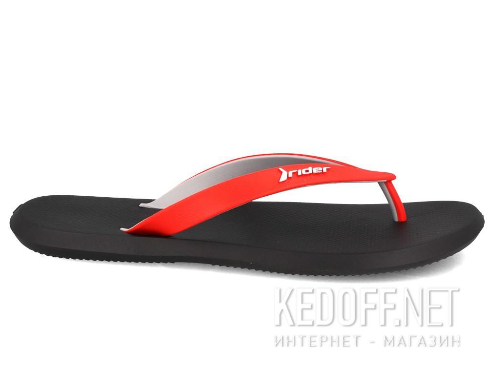 Вьетнамки Rider R1 10594-24063   (чёрный/красный/серый) купить Украина