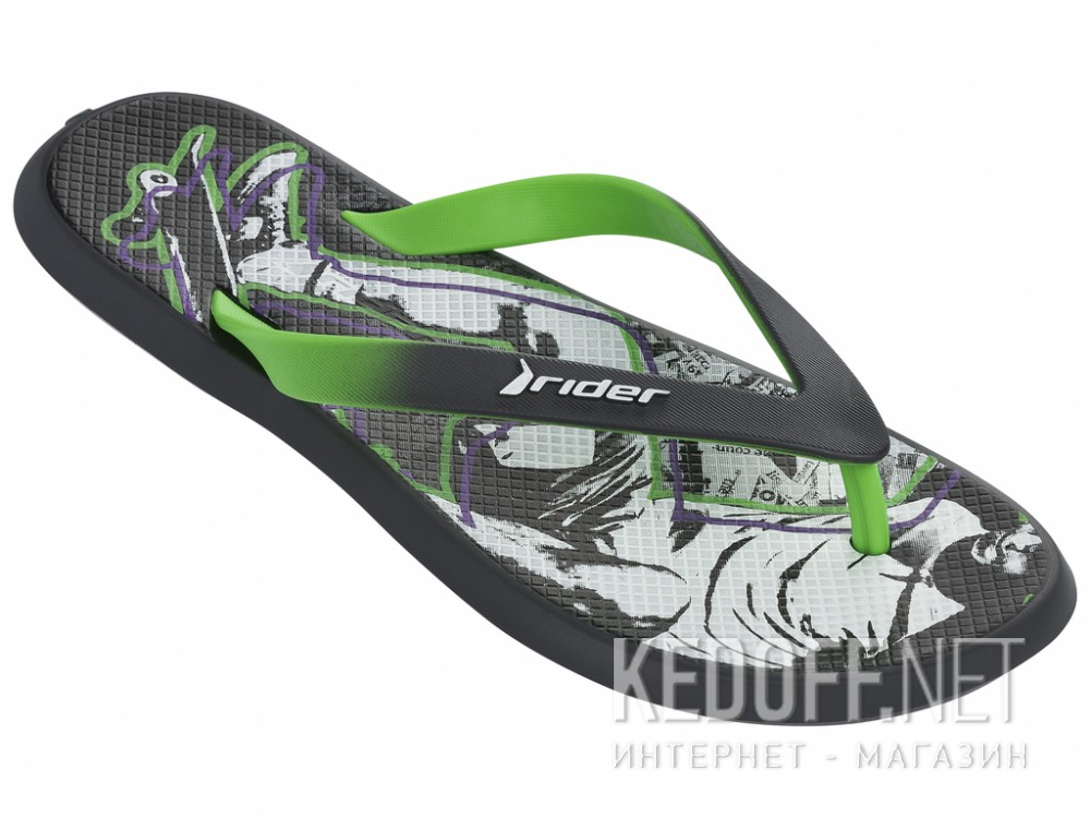 Вьетнамки Rider R1 Energy VI 82024-24124 унисекс   (зеленый/серый) купить Киев