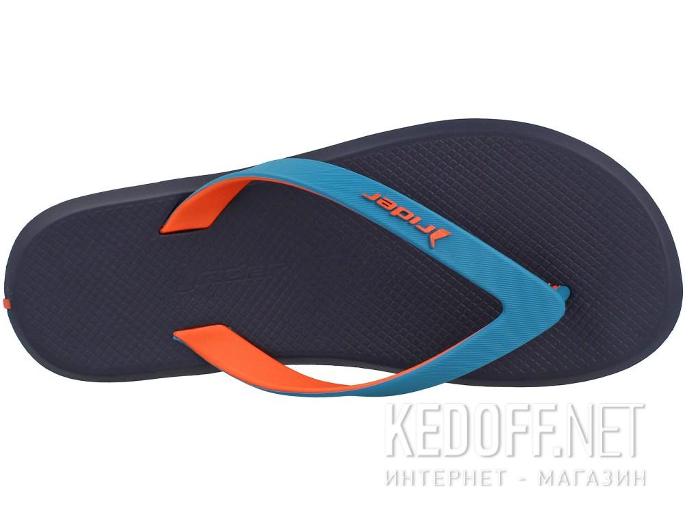 Оригинальные Вьетнамки Rider R1 10594-24193   (тёмно-синий/бирюзовый/оранжевый)