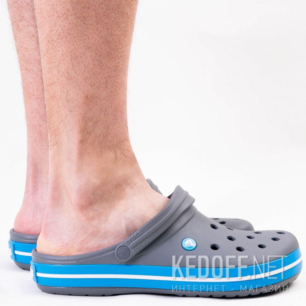 Dostawa Sandały Crocs Crocband 11016-07W unisex (ciemno-szary/niebieski/szary)