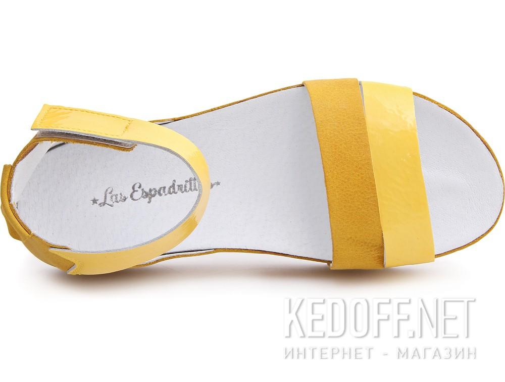 Босоножки Las Espadrillas 07-0275-004 унисекс   (жёлтый) купить Киев
