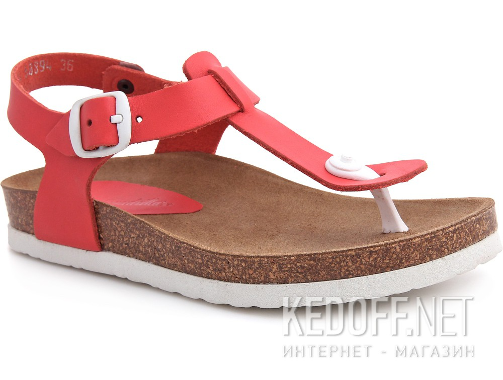 Sandals Las Espadrillas Rojo 07-0278-004 Made in Spain