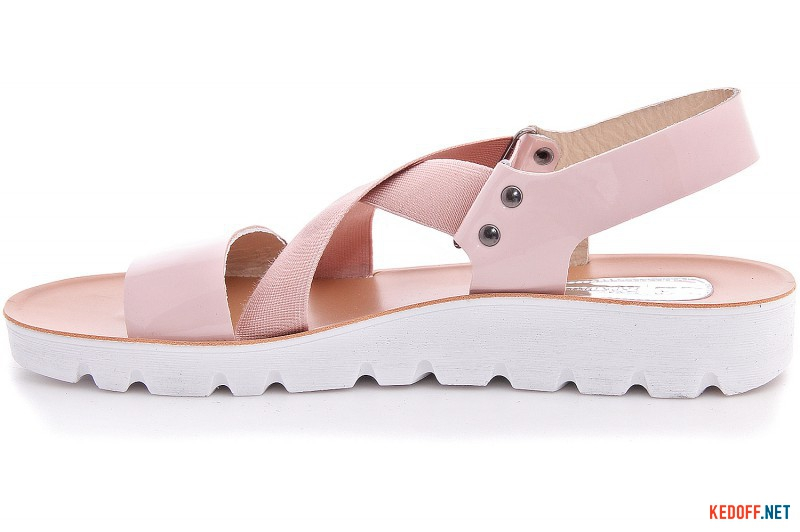Sandals Las Espadrillas Pink Stretch D004-34