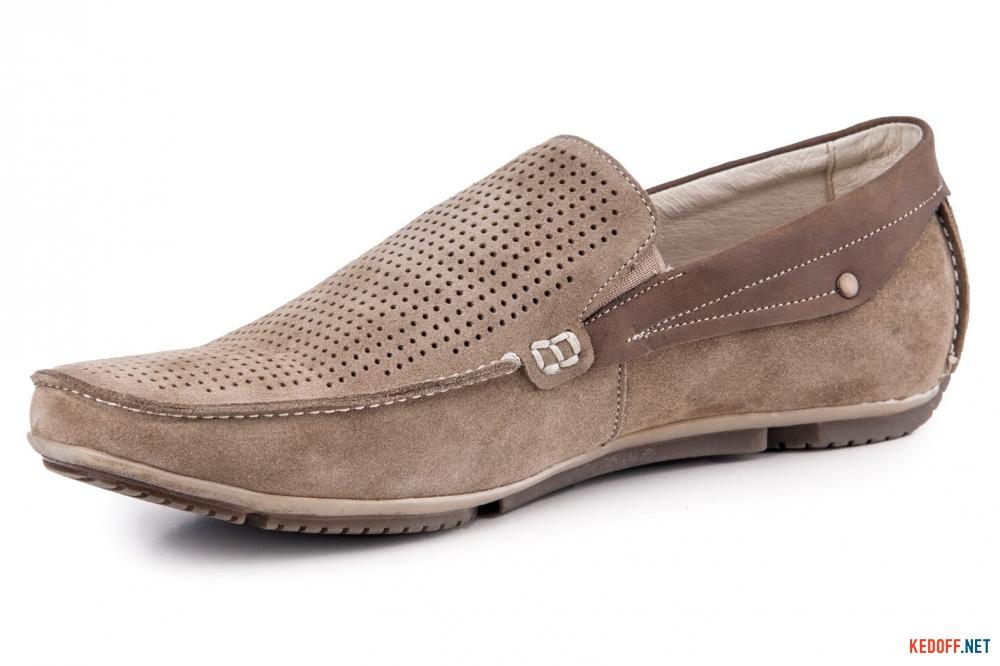 Туфлі чоловічі Forester 1610-380 Беж Замш-R