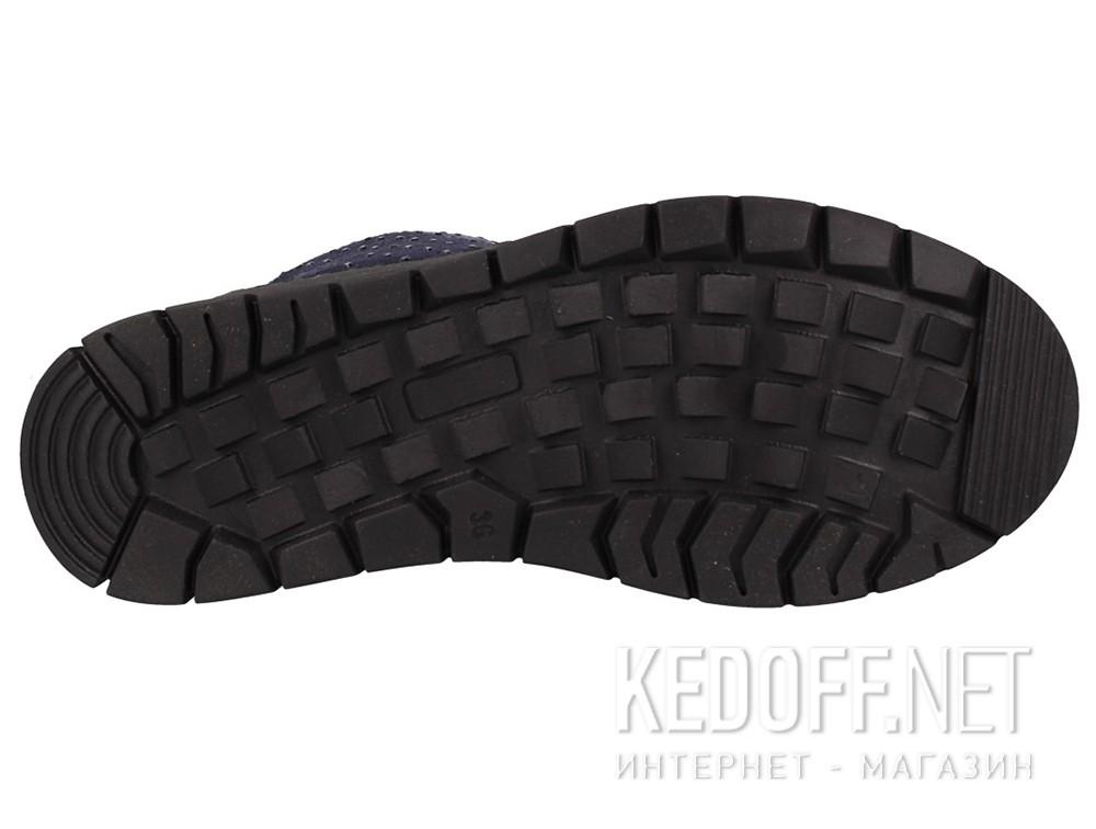 Сапоги Forester 701-189 Тёмно-синий, Замша, Искусственный мех