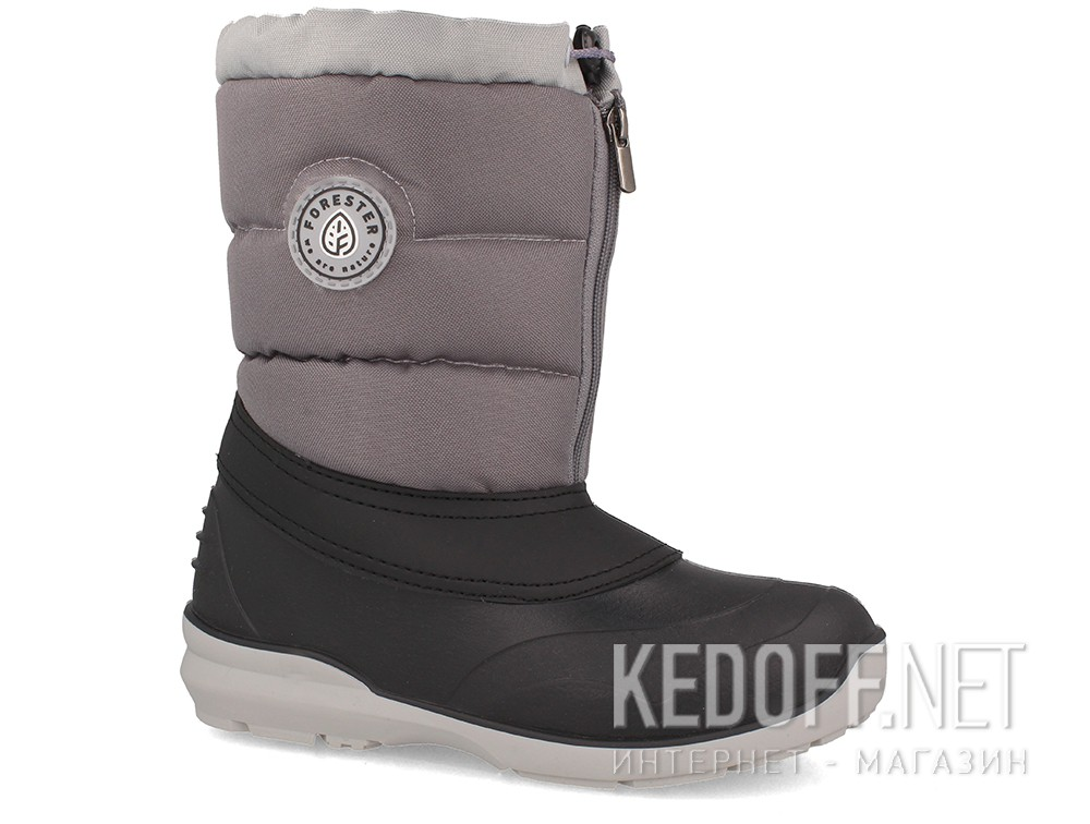 Boots slush Forester A70111-37 Grey, textile