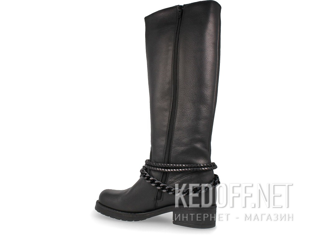 Women's high heel boots Greyder Harley 55560-27 Black leather