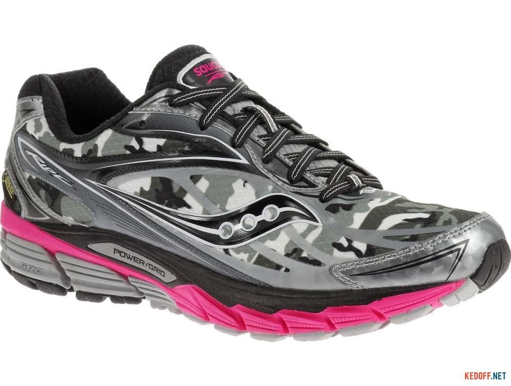 Купить Текстильная обувь Saucony Ride 8 Gore-Tex 10286-1 унисекс   (розовый/чёрный/серый)