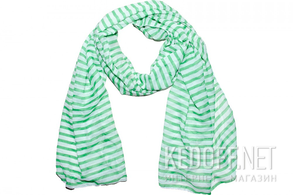 Купить Шарфы Las Espadrillas 110713 унисекс   (зеленый/белый)