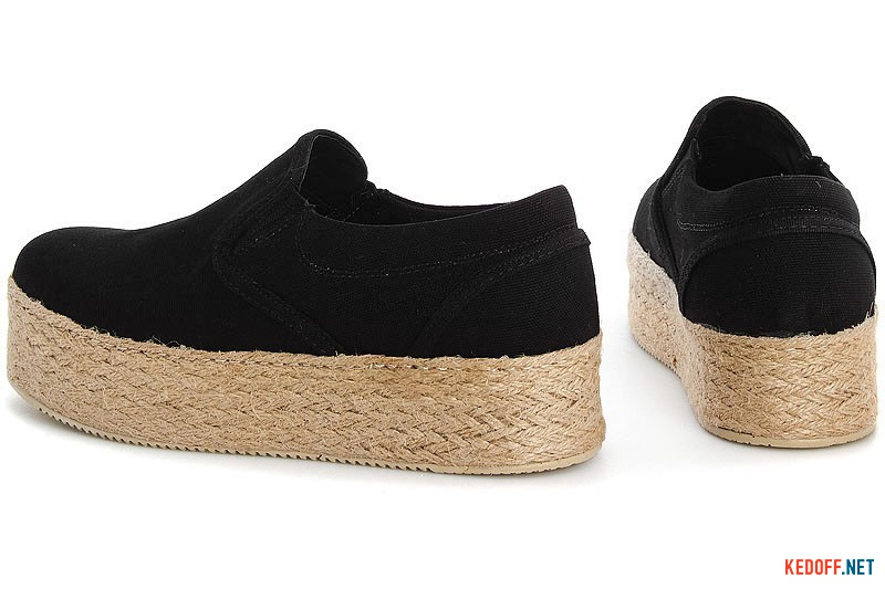 Women's sneakers Las Espadrillas 5104 SL Black cotton