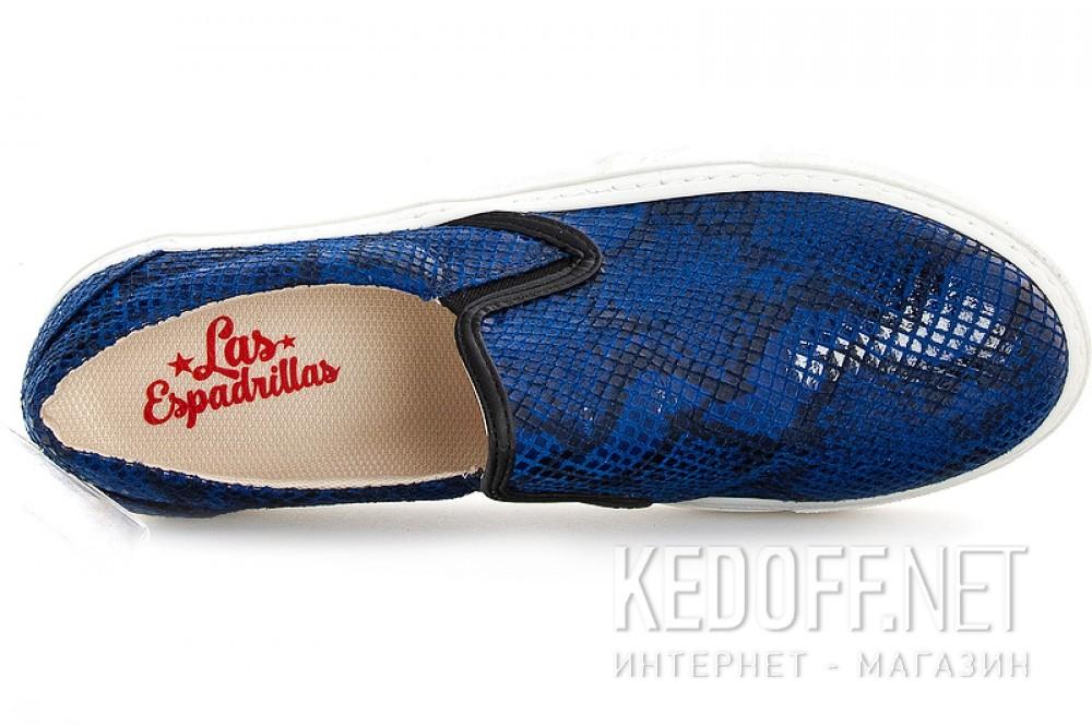 Сліпони Las Espadrillas  5128 SL Синя Змія