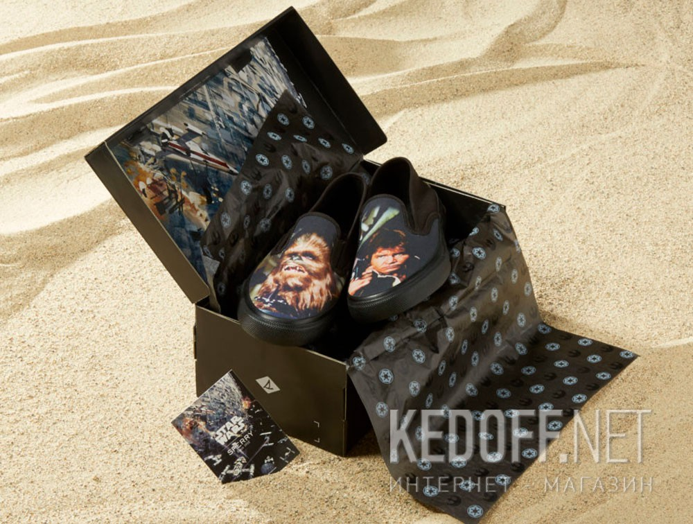 Слипоны Sperry Cloud Slip On Han & Chewie Sneaker SP-17650 Star Wars унисекс   (чёрный) описание