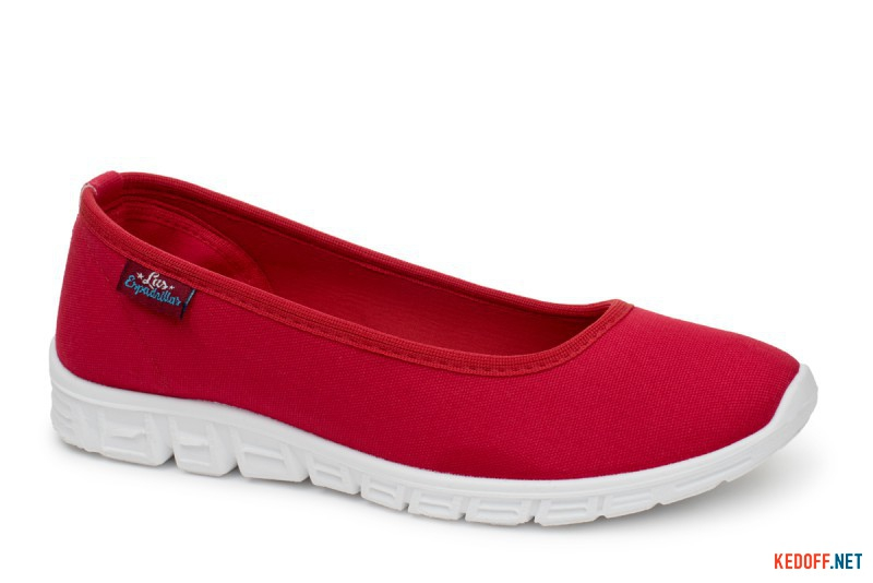 Sports ballerinas Las Espadrillas Motion Foam 22635-47 Red Canvas